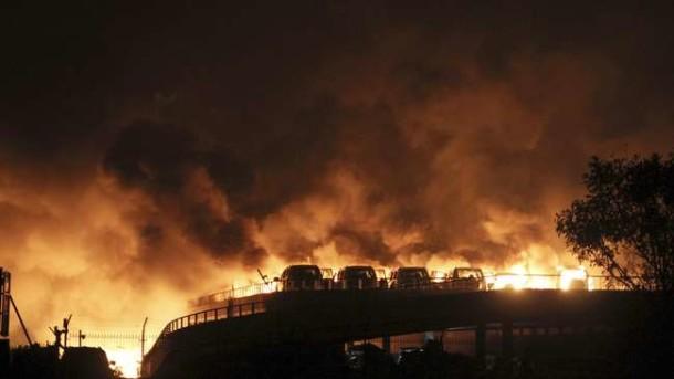 China Tangkap 12 Orang yang Terlibat Ledakan Tianjin