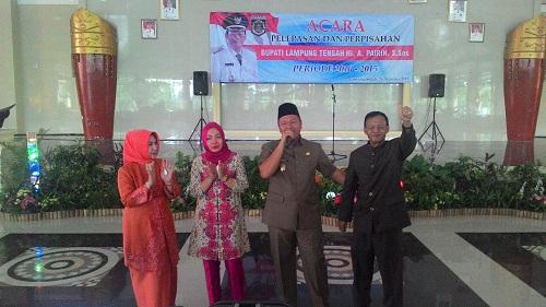 Pemkab Lampung Tengah gelar acara perpisahan Ahmad Pairin, Rabu, 26/8/2015 | Dawiek/Jejamo.com