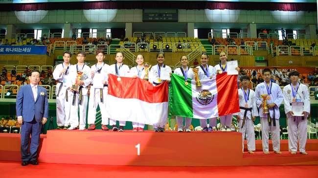 Taekwondoin UTI Pro Rebut Tiga Emas di Hanmadang 2015