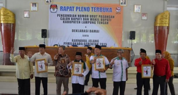 Peserta Pilkada Lamteng Sudah Pilih Waktu dan Tempat Kampanye Terbuka