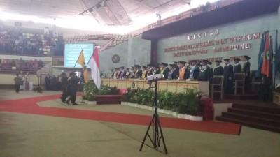 Penuh Haru, Sugeng P Harianto Ucapkan Perpisahan pada Wisuda Unila