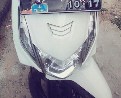 Atribut TNI di sepeda motor salah satu warga Bandar Lampung | jejamo.com
