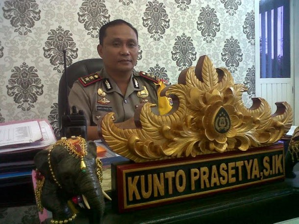Kapolres Lamteng AKBP Kunto Prasetya | Raeza/jejamo.com