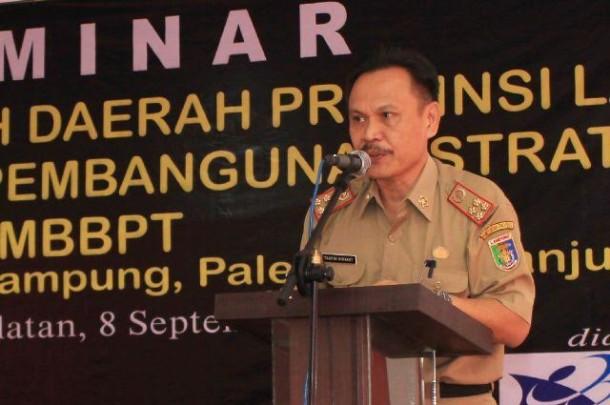 Kepala Bapedda Provinsi Lampung Taufik Hidayat | Widyaningrum/jejamo.com