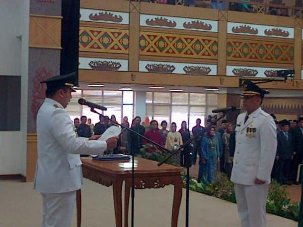 Pelantikan Tauhidi sebagai Pj Bupati Lampung Timur | Widya/kontributor