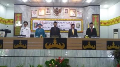 Sertijab Walikota dan Wakil Walikota Bandar Lampung kepada Penjabat Walikota | Nizar/jejamo.com
