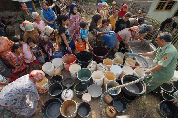 Warga Bandar Lampung dan Pesawaran Sulit Dapat Air Bersih