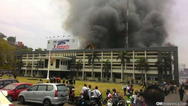 Kebakaran Hebat di Mapolda Jawa Tengah
