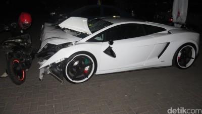 Pengemudi Lamborghini Jadi Tersangka