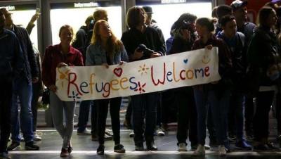 sambut pengungsi Reuterns