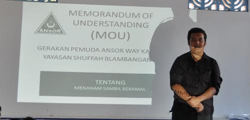 Wakil Ketua PC GP Ansor Kabupaten Waykanan Provinsi Lampung Widyo Kuncoro | ist