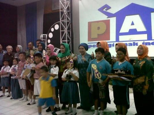 Ratusan Anak Bandar Lampung Antusias Nonton di Bioskop Sanak Lampung