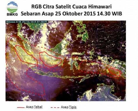 BMKG: Kabut Asap Berasal dari Way Kambas Lampung Timur, Bukan OKI Sumsel