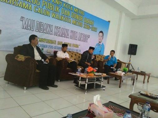 KNPI Gelar Dialog Calon Wali Kota Metro, Abdul Hakim Datang Sendirian
