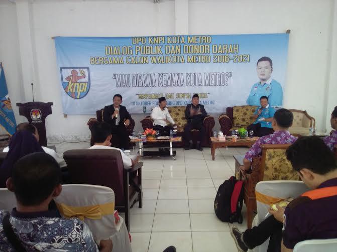 Acara dialog publik yang digelar DPD KNPI Kota Metro, Sabtu, 31/10/2015 | Marwan/jejamo.com