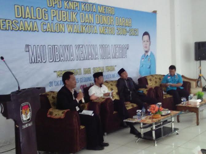 Penjabat Walikota Metro Buka Kegiatan Dialog dan Donor Darah KNPI