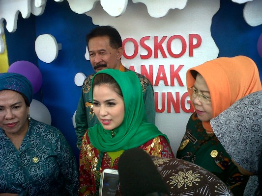 Apriliani Yustin Buka Bioskop Anak di Museum Lampung