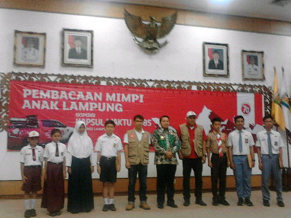 Tim Ekspedisi Kapsul Waktu 2085 Sambangi Provinsi Lampung