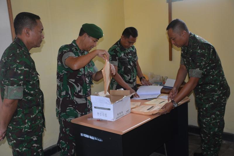 Ujian Dinas Tingkat 1 (TK 1) PNS Sub Panda Lampung di Aula Ajen Rem, Selasa, 27/10/2015. | Ist.