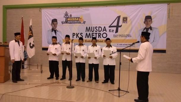 Acara Musda PKS Metro di Aula Wisma Haji Khoiriyah, Senin (17/10/2015). | Ist.