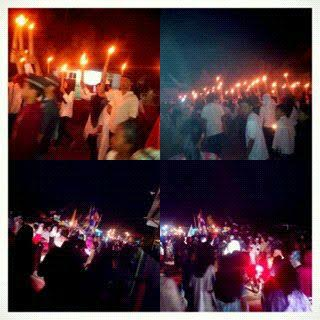 Warga Telukbetung pawai obor sambut Tahun Baru Islam | ist