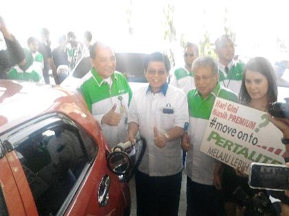 Peluncuran Petralite di SPBU Antasari Bandar Lampung | Sugiono/jejamo.com