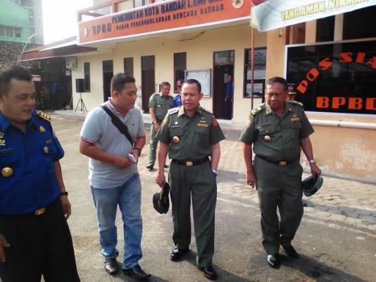 Ancaman Kebakaran, Pj Walikota Bandar Lampung Tinjau Kesiapan BPBD