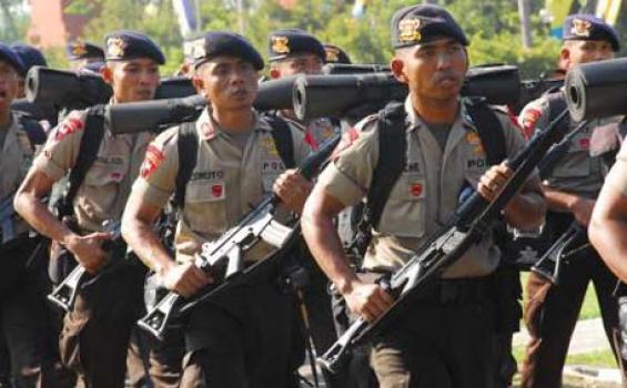 Polsek Metro Kibang, Kabupaten Lampung Timur menurunkan 7 Anggota Babinkamtibmas. | tribunnews.com