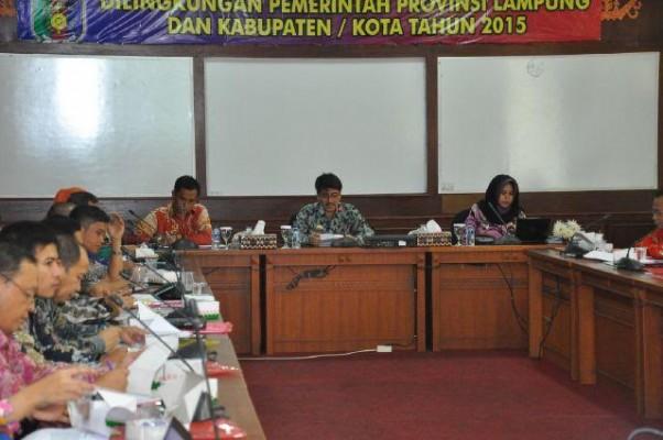 Rapat peningkatan pelaksanaan publik di Provinsi Lampung | Widya/jejamo.com