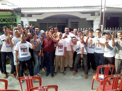 Relawan calon wali kota Bandar Lampung Thobroni Harun-Komarunizar. | Ist