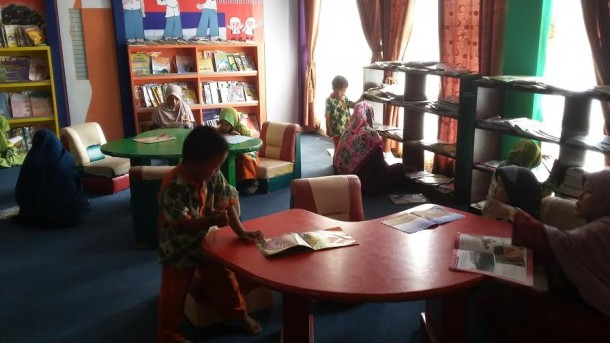 Ruang khusus anak Perpustakaan Daerah Metro | Nizar/jejamo.com
