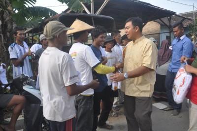 Rycko Sambangi Petani di Jatiagung
