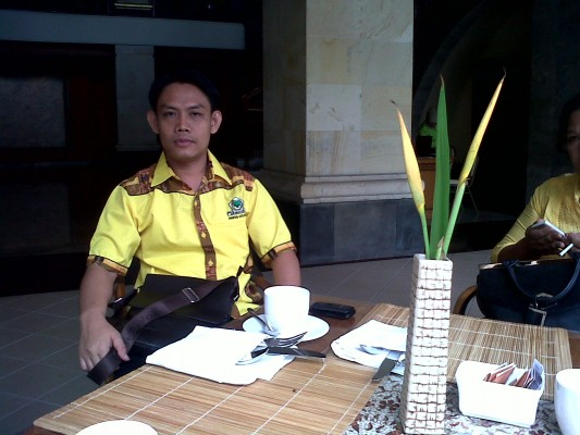 Sekjen DPD II Partai Golkar Lampung Tengah, Febriyantoni. | Raeza/Jejamo.com