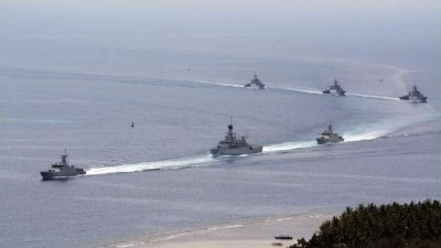 Armada kapal perang RI saat melakukan sailing pass di Sulawesi Tengah | ist