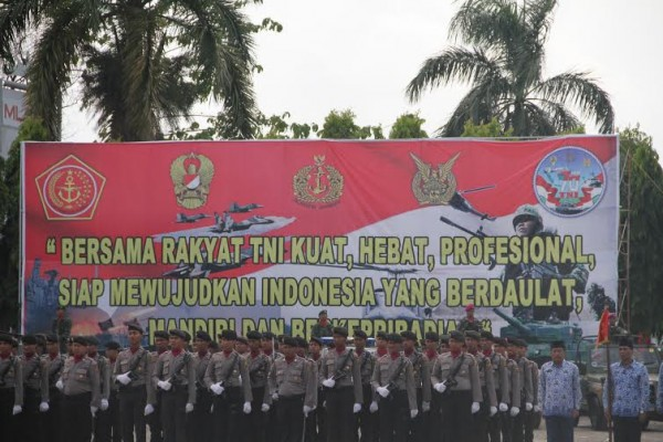 Upacara peringatan HUT ke-70 TNI | Sugiono/jejamo.com