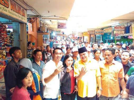 Vokalis Hijau Daun Ikut Blusukan Paslon Nomor 4 Lampung Tengah