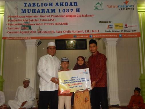 Yatim Mandiri Lampung Salurkan Rp26 Juta untuk 100 Anak Duafa