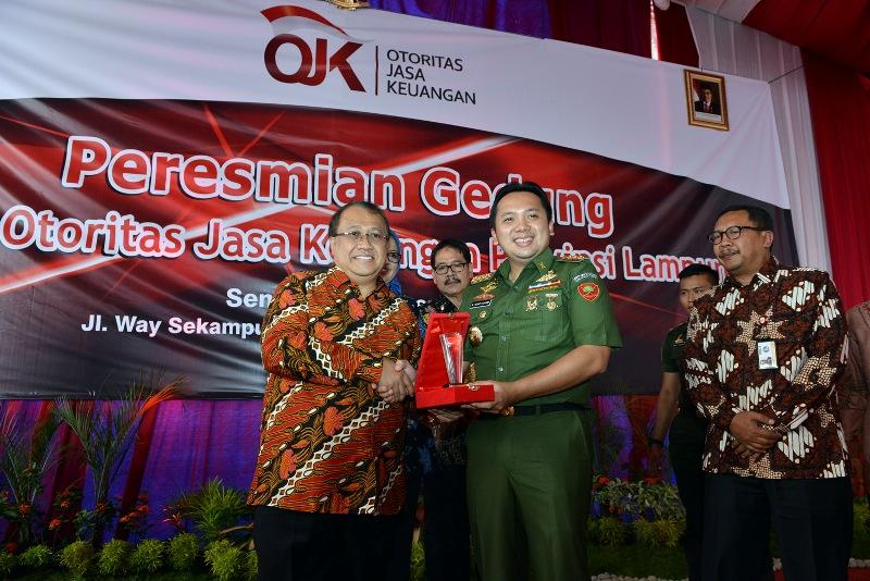 Gubernur Lampung Resmikan Gedung Otoritas Jasa Keuangan
