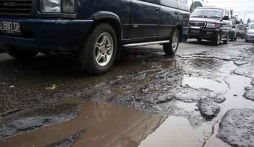 Jalan rusak di Lampung | ist