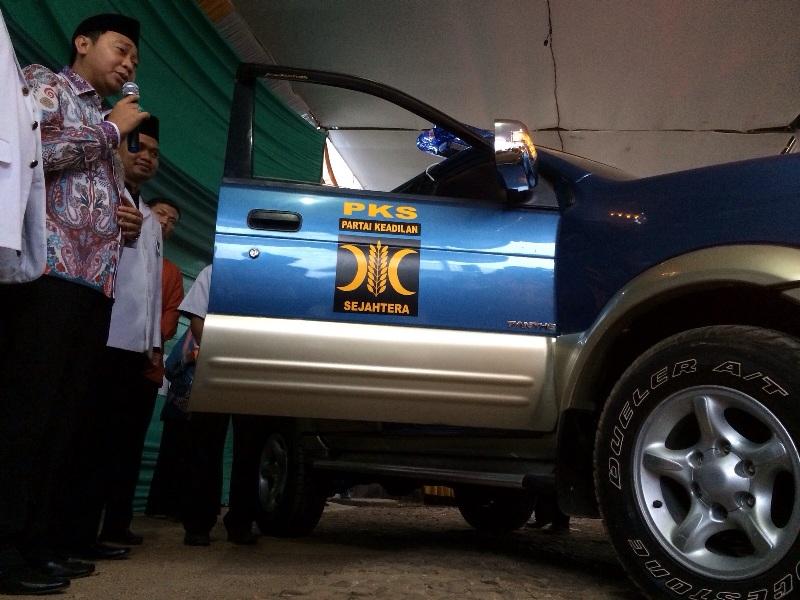 Bupati Lampung Utara, Agung Ilmu Mangkunegara saat memberikan sambutan dalam Musyawarah Daerah (Musda) PKS Lampung Utara, Sabtu (24/10/2015). | Ist.