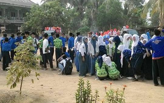 Banser Waykanan Kawal Pawai Akbar HSN Pakuan Ratu