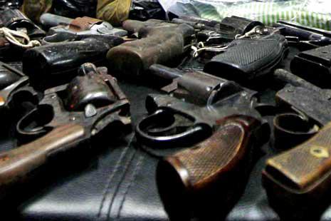 Polres Lampung Timur Amankan 35 Senjata Api Rakitan