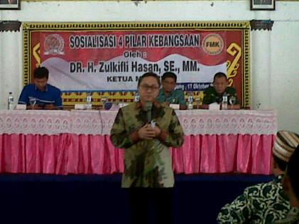 Sambangi Lampung, Zulkifli Hasan Sosialisasikan 4 Pilar Kebangsaan