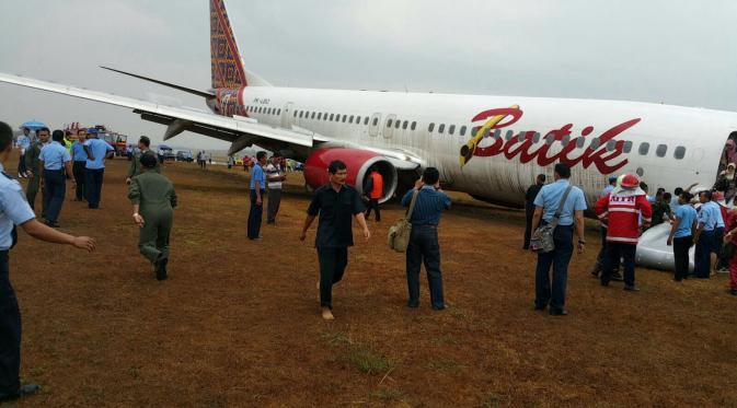 Pesawat Batik Air Tergelincir di Bandara Adisucipto Yogyakarta