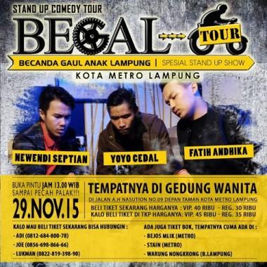 Stand Up Comedy Lampung Gelar Tur Begal di Tiga Kota