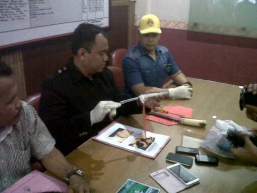 Polresta Bandar Lampung Gelar Ekspose Kasus Penikaman Polisi
