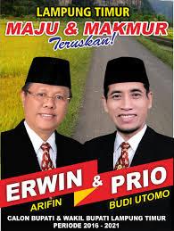 KPU Lampung Timur Nyatakan Pencalonan Erwin Arifin Gugur