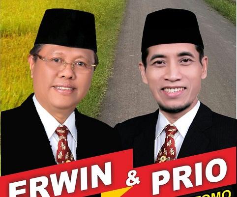 Poster pencalonan Erwin - Prio | ist