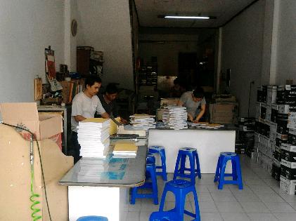 Usaha fotokopi di Jalan Cut Nyak Dien, Bandar Lampung | Sugiono/jejamo.com