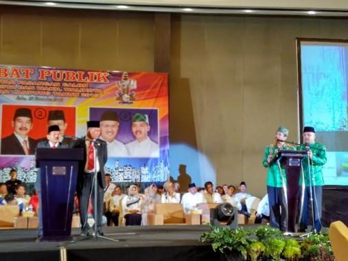 Debat kandidat calon walikota dan wakil walikota Bandar Lampung, Rabu malam, 25/11/2015 | Andi/jejamo.com